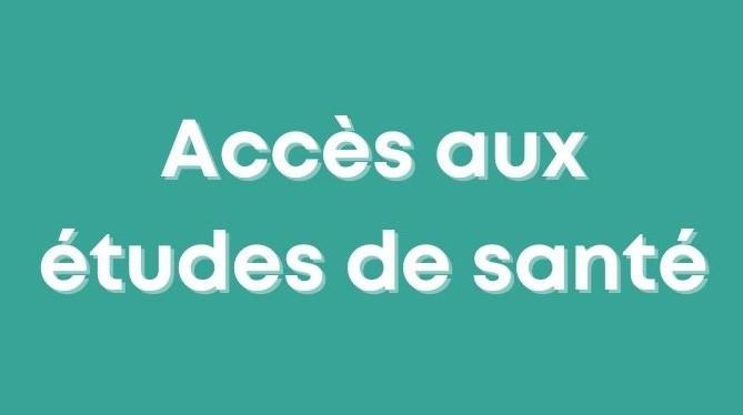accès études santé